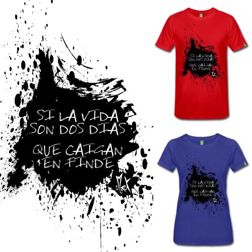 Camisetas de Diseño 2 Dias McKoy - Tienda Online de Camisetas