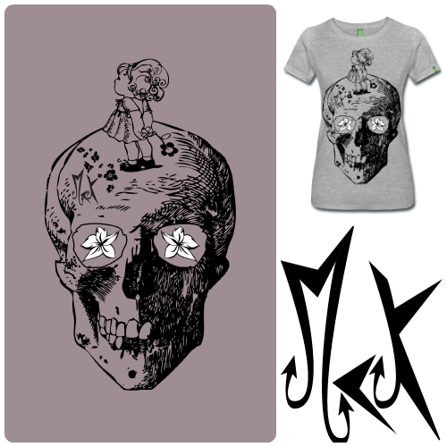 Camisetas de Diseño Girl on the Skull McKoy - Tienda Online de Camisetas