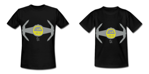 Camisetas de Diseño Tie Fighter McKoy - Tienda Online de Camisetas